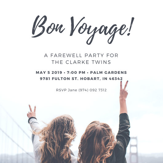 Farewell Invitation Template Girl Photo Farewell Party Invitation - farewell invitations templates