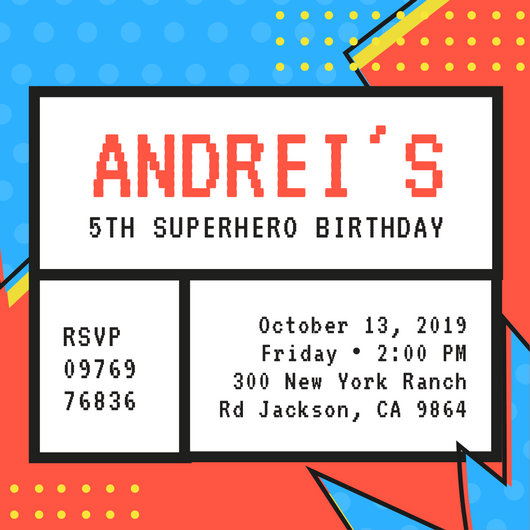 Customize 113+ Superhero Invitation templates online - Canva