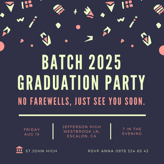 Blue Graduation Farewell Party Invitation - Templates by Canva