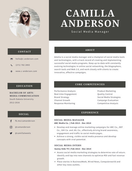 Cream and Gray Modern Resume - Templates by Canva