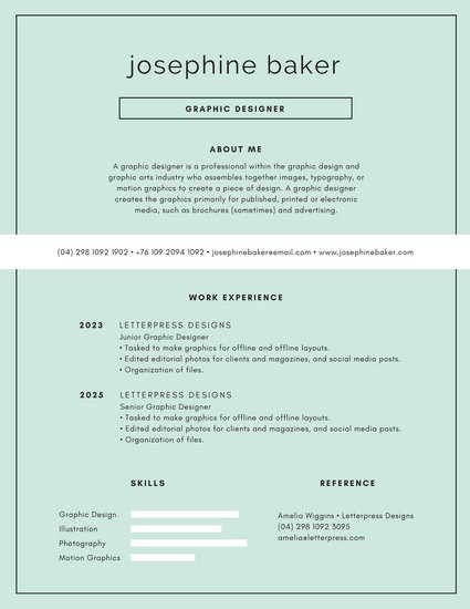 Blue and White Modern Minimalist Resume - Templates by Canva - motion graphics resume