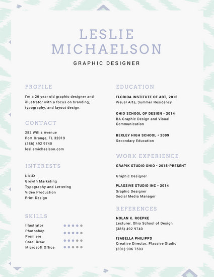 Purple and Blue Creative Resume - Templates by Canva - creative resume template