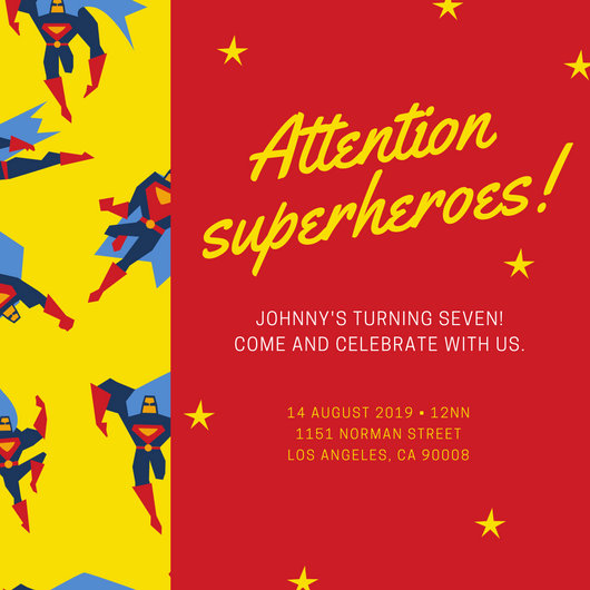 princess superhero birthday party invitations