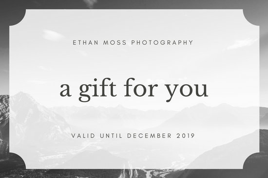 Black and White Photography Gift Certificate - Templates by Canva