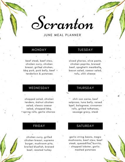 Customize 343+ Meal Planner Menu templates online - Canva - menu planner templates