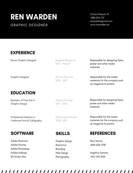Black and White Minimalist Resume - Templates by Canva - minimalist resume template