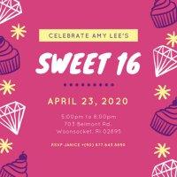 Customize 545+ Sweet 16 Invitation templates online - Canva