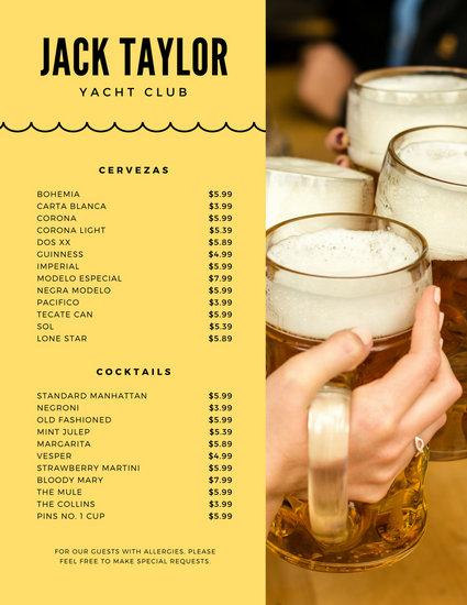 Customize 528+ Drink Menu templates online - Canva