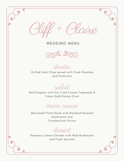 Wedding Menu - Templates by Canva