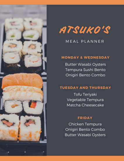 Customize 343+ Meal Planner Menu templates online - Canva
