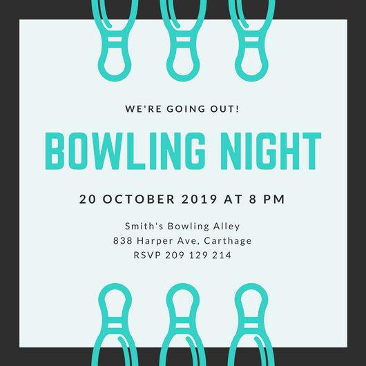 Customize 95+ Bowling Invitation templates online - Canva - bowling invitation