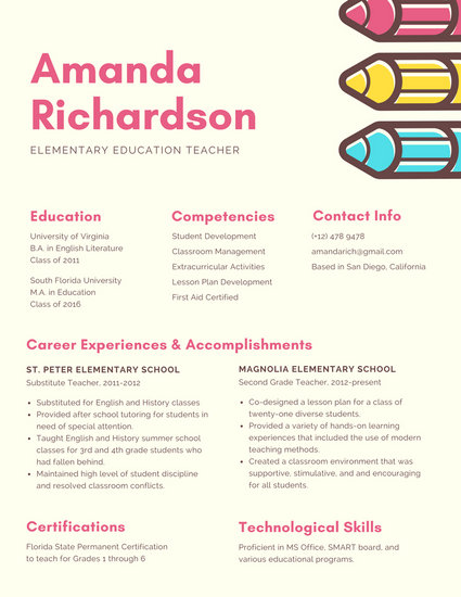 Pastel Bordered Creative Resume - Templates by Canva - creative resume