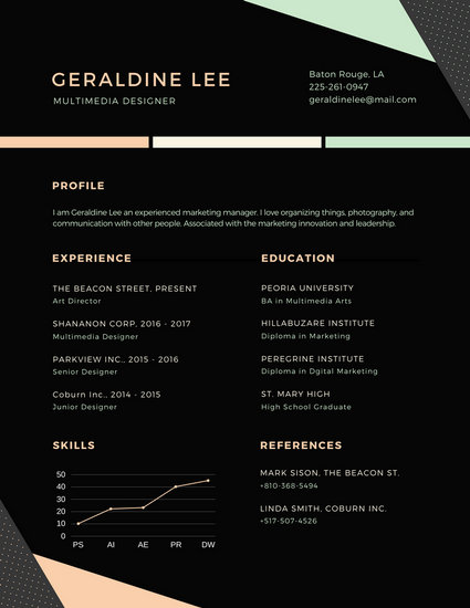 Customize 764+ Modern Resume templates online - Canva