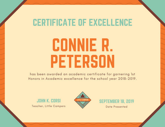 Customize 56+ Academic Certificate templates online - Canva