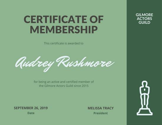 Green Membership Certificate - Templates by Canva - membership certificate template