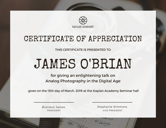 Appreciation Certificate Templates - Canva - sample certificate of appreciation