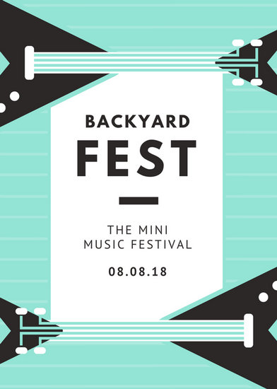 Mint Bass Simple Party Event Flyer - Templates by Canva