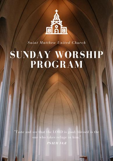 Church Program Templates - Canva - church program