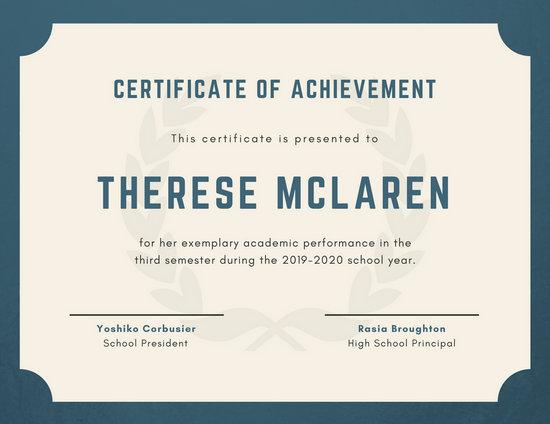 diploma certificate model