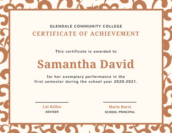 Student Certificate Templates - Canva - first place award template