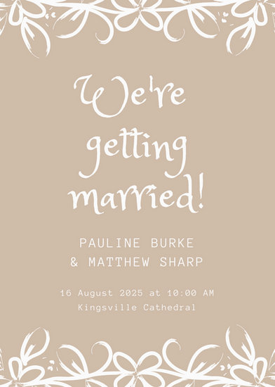 Customize 174+ Wedding Announcement templates online - Canva