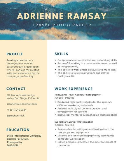 free travel agent resume templates