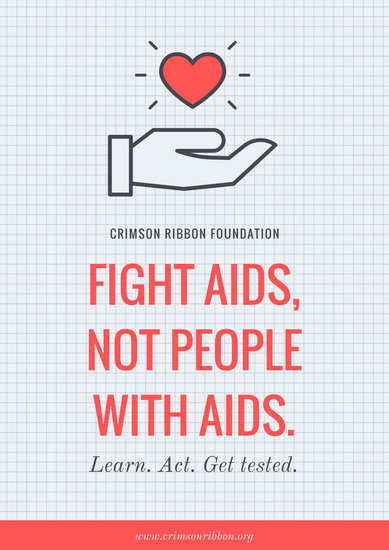 Poverty Wallpapers With Quotes Customize 36 Hiv Aids Poster Templates Online Canva
