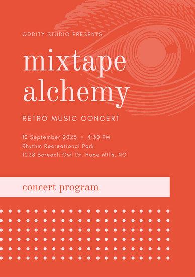 music concert program template - Minimfagency