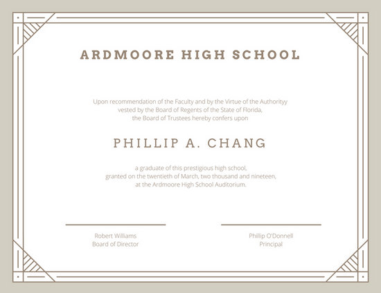 Customize 325+ High School Diploma Certificate templates online - Canva