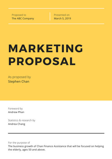 Yellow  White Modern Marketing Proposal - Templates by Canva