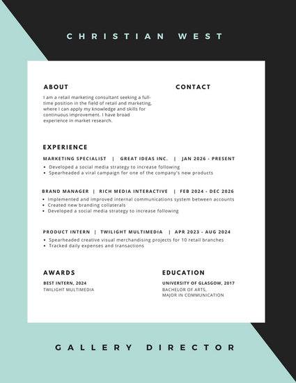 Modern Resume Templates - Canva - contemporary resume templates free