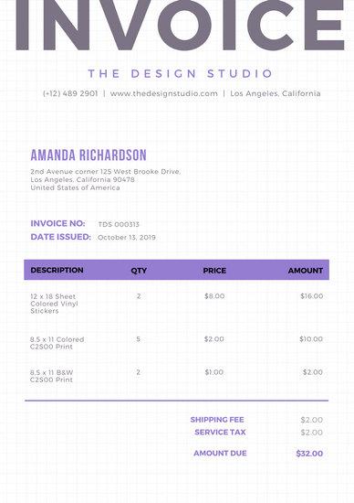 Customize 203+ Invoice templates online - Canva - www.invoice.com