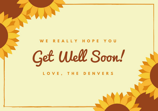 Customize 614+ Get Well Soon Card templates online - Canva - get well soon card