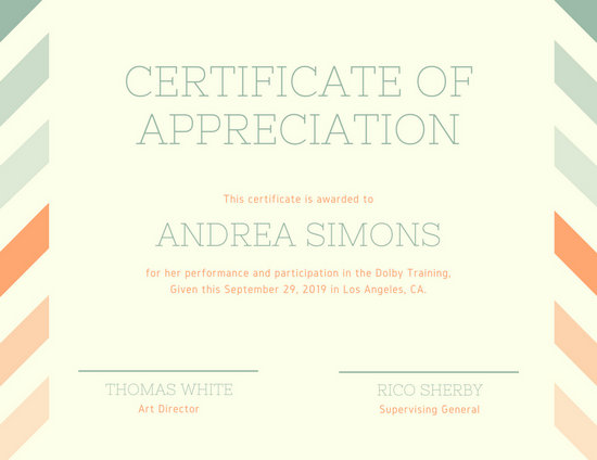 Customize 89+ Appreciation Certificate templates online - Canva