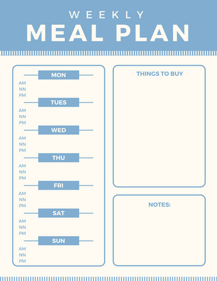 Customize 344+ Meal Planner Menu templates online - Canva - meal planning template
