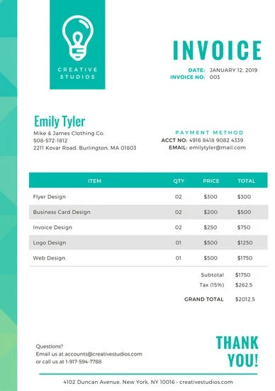 Customize 204+ Invoice templates online - Canva - invoice template with logo