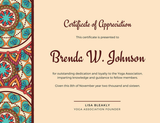 Certificate Of Appreciation Appreciation Certificate Template In - Sample Certificate Of Appreciation