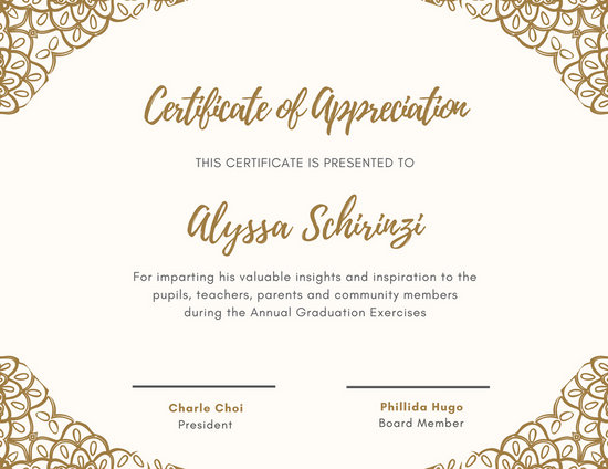 Customize 89+ Appreciation Certificate templates online - Canva - certificate of appreciation