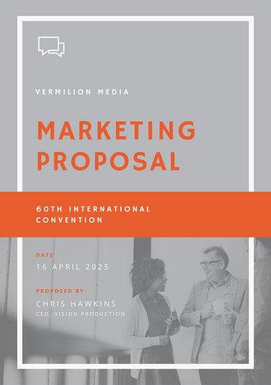 Proposal Templates - Canva - graphic design proposal template