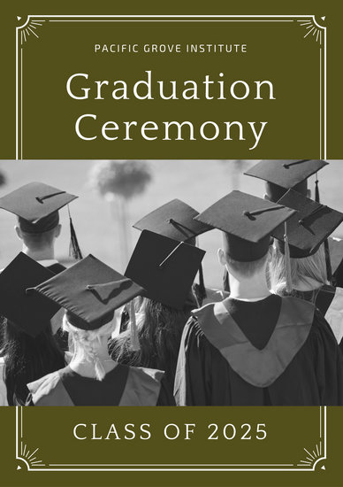 Olive Green Border Graduation Program - Templates by Canva - graduation program covers