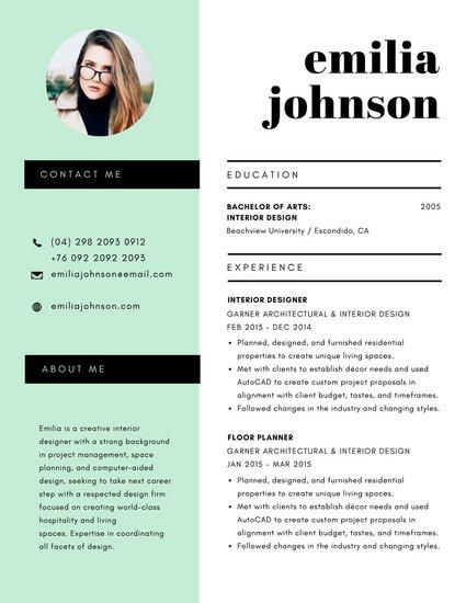 resume template for teachers