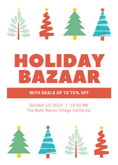 bazaar flyer template