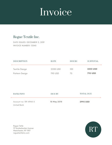 Customize 204+ Invoice templates online - Canva - product invoice