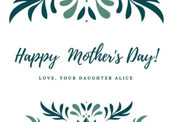 Green Flourish Mother\u0027s Day Card - Templates by Canva - mothers day card template