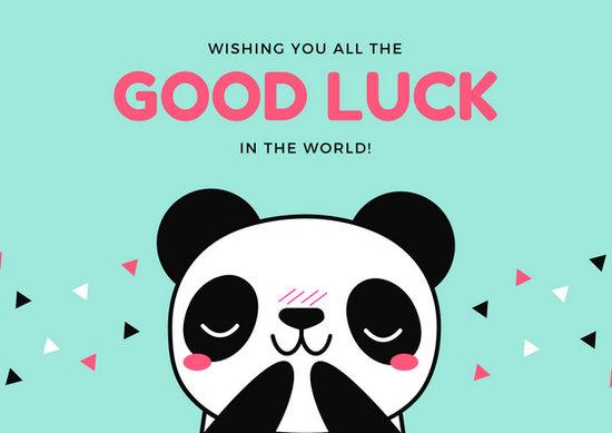 good luck card templates - Onwebioinnovate - good luck card template