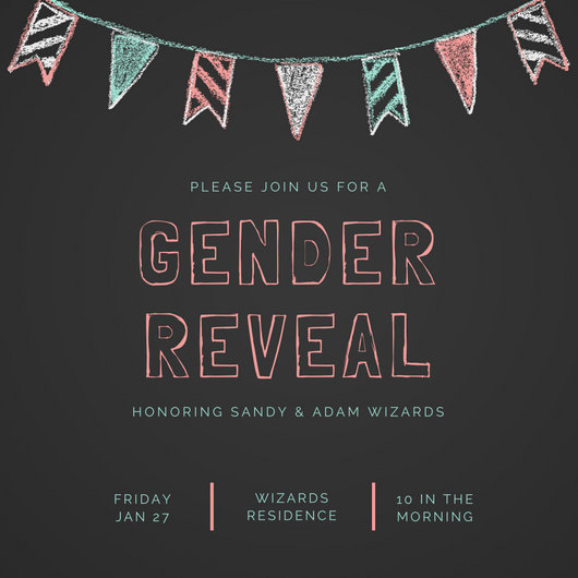 Boy And Girl Wallpapers For Mobile Customize 29 Gender Reveal Invitation Templates Online