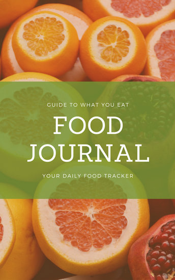 Orange Fruit Food Journal Book Cover - Templates by Canva