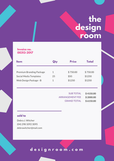 Customize 203+ Invoice templates online - Canva