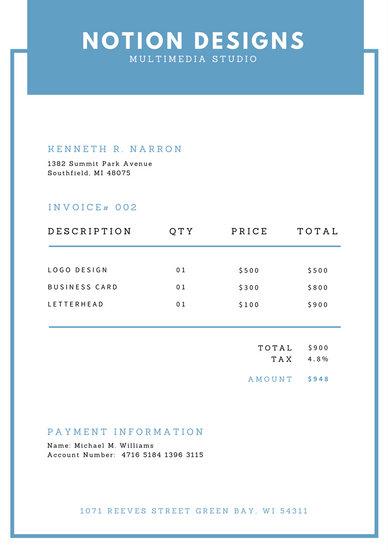 Customize 204+ Invoice templates online - Canva