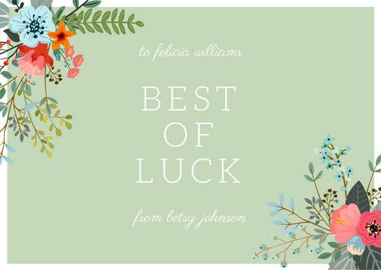 good luck card template - Maggilocustdesign